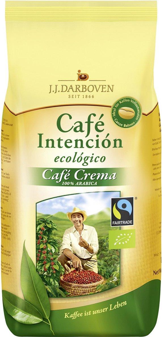 4x Darboven Café Crema Bio Fairtrade Bohnen 1kg