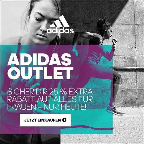 Ab jetzt 24 Stunden lang 25% extra Rabatt auf den gesamten Damen-Outlet + gratis Versand bei adidas