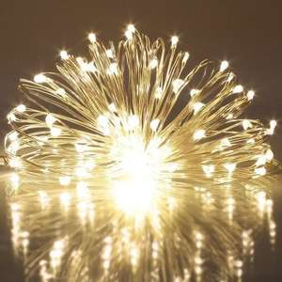 2 mal LED - Lichterkette - 5m Batteriebetrieben (3xAA) IP44 warmweiß ->> schnell sein!