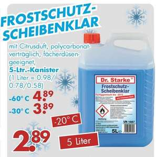 Scheibenfrostschutz bis -60 Grad für nur 4,89€ bei Jawoll
