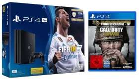 [Rakuten Supersale] SONY Playstation 4 Pro mit Fifa 18 (DL) und CoD WWII und 4880 Superpunkte | Nintendo Switch | Classic Mini SNES | Nintendo 3D XL | PS4 Pro oder mit GT: Sport