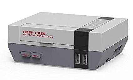 NES Gehäuse NESPI für Raspberry Pi 3, 2, B+ (Auch mit Controller, Lüfter und Kühlrippen zu haben!)