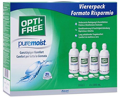 STUDENTEN: [Prime] Opti-Free PureMoist, Kontaktlinsen-Pflegemittel, Systempack, 4 x 300 ml, Kontaktlinsenflüssigkeit