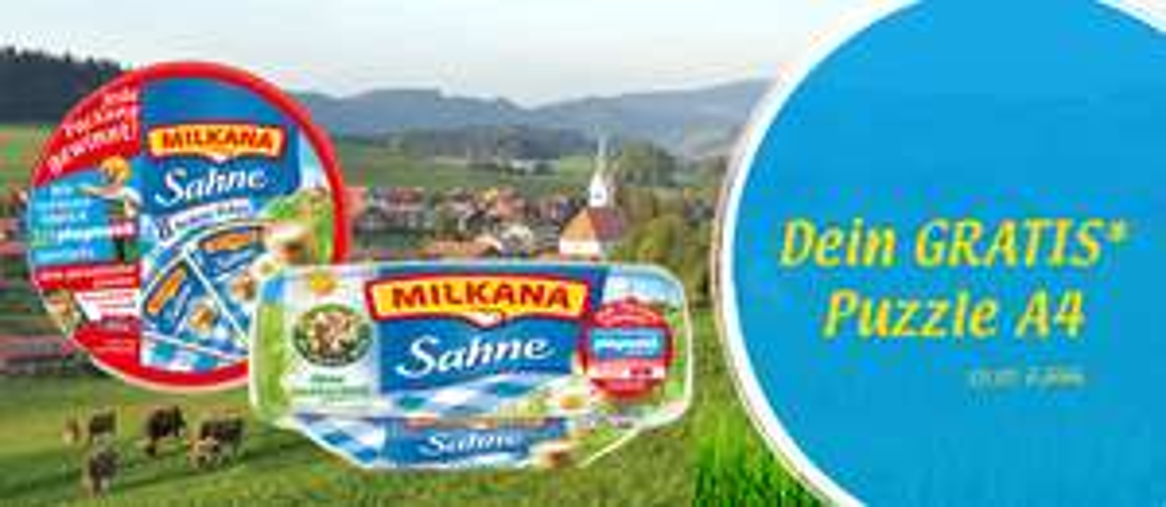 [EDEKA & MARKTKAUF bundesweit bis 11.11.] Milkana Frischedose oder Rundschale + GS für kostenloses FotoQuelle Fotopuzzle für 1,49€