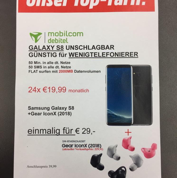 *nur LOKAL erhältlich* MEDIA MARKT  LUDWIGSBURG GALAXY S8 + Gear Iconx 2 für 19,99*24 und einmalig 29€