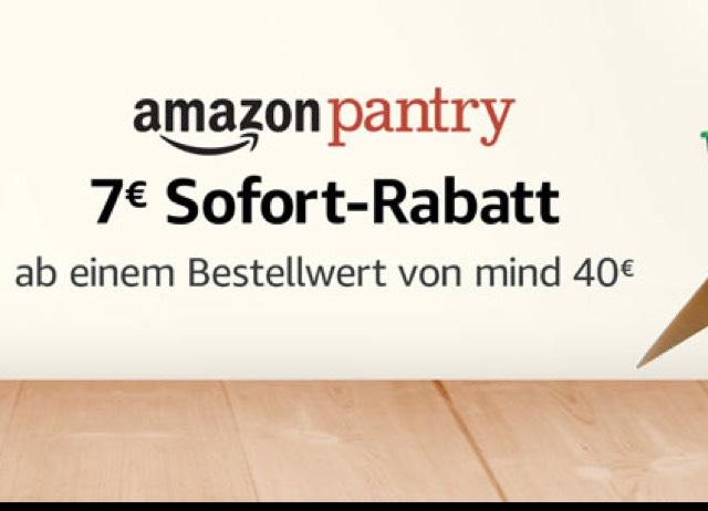 [Amazon Pantry] 7 Euro Sofort-Rabatt ab 40 Euro MBW [Prime]