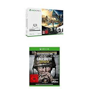 [Amazon.de] Xbox One S 1TB Konsole - Assassin's Creed Origins Bonus Bundle inkl. Tom Clancy's Rainbow Six: Siege Spiele-Download + Call of Duty: WWII