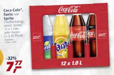 [Offline] Real: 12 x 1 Liter Coca Cola und Konsorten