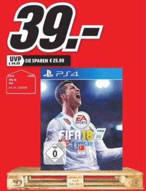 [Regional Mediamarkt Elmshorn] FIFA 18 (Playstation 4) für 39,-€