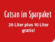 Zooroyal 35l Catsan Ultra Plus Klumpstreu + Gratis Kuscheldecke