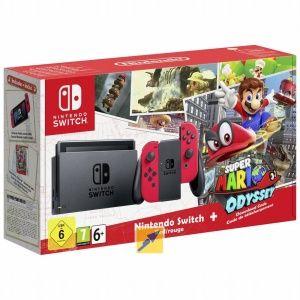 Nintendo Switch Rot inkl. Super Mario Odyssey @Rakuten