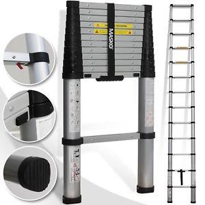 Masko Teleskopleiter 3,80m Leiter