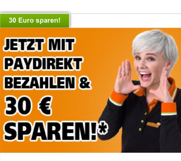 Paydirekt-Aktion bei Globus Baumarkt - 30€ bei MBW 99€ sparen!