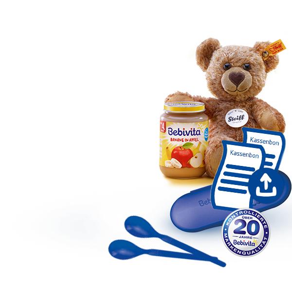 Bebivita Produkte kaufen und Löffelbox und/oder Steiff Teddy kostenfrei erhalten