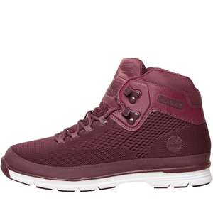 Timberland Mens Euro Hiker Spacer Boots Black in Schwarz oder Bordeaux