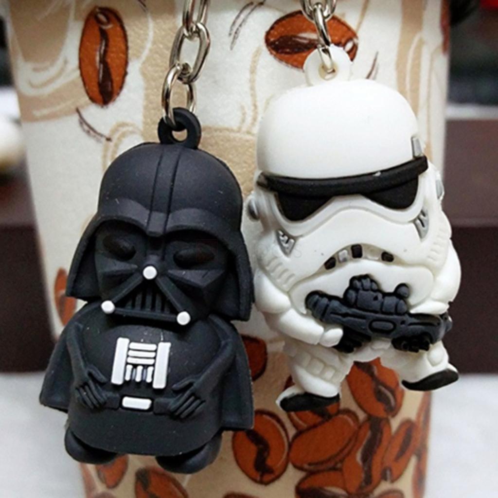 Star Wars - Knuffiger Darth Vader oder Stormtrooper Schlüsselanhänger