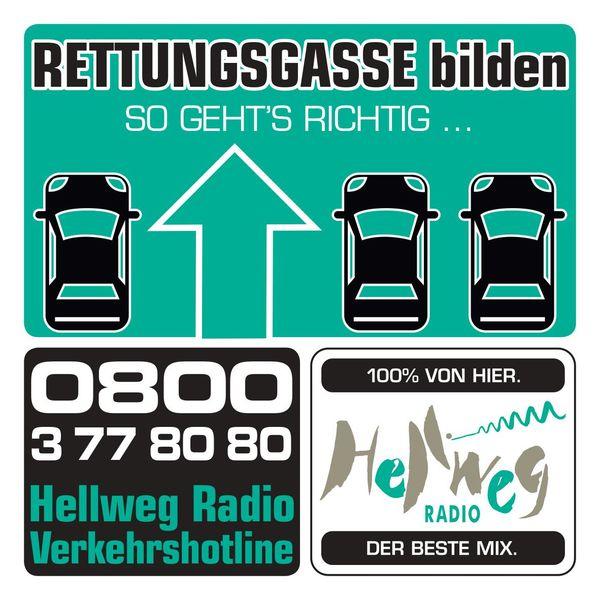 Die Hellweg Radio Rettungsgassen-Aufkleber Gratis (Lokal)