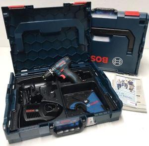 Bosch Akkuschrauber GSR 12V-15 mit 2x 2,0 Ah Akku, Ladegerät und 2x L-BOXX