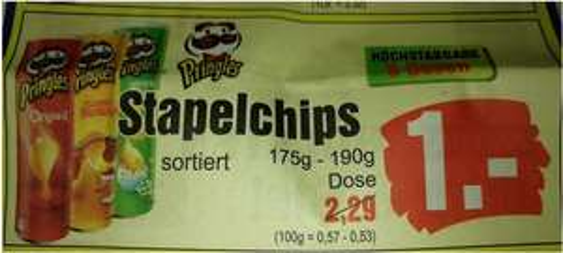 [Lokal: Dithmarschen/Steinburg] Edeka Frauen: Pringles 1€ / Haribo 0,49€ / Cola 1€