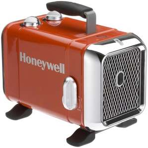 Honeywell HZ-510E Keramik-Heizlüfter in rot/chrom (1100/1800W)