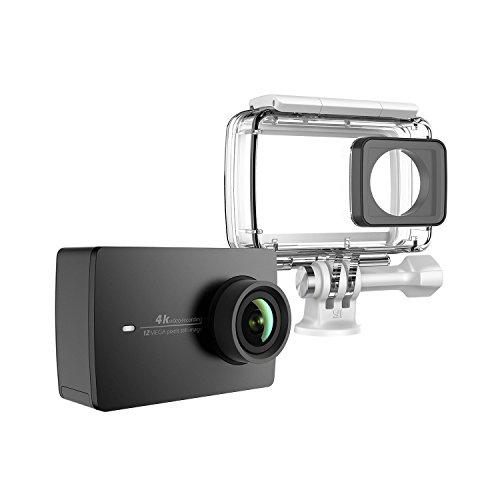 YI 4K Action Kamera Schwarz mit wasserdichtem Gehäuse, 4K/30fps 12MP Action Cam mit 5,56 cm (2,2 Zoll) LCD Touchscreen, Wifi und App für IOS/Andriod, Bildstablisierung