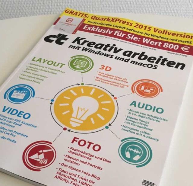 [MAC + PC] C't kreativ Ausgabe mit QuarkXPress 2015 Vollversion