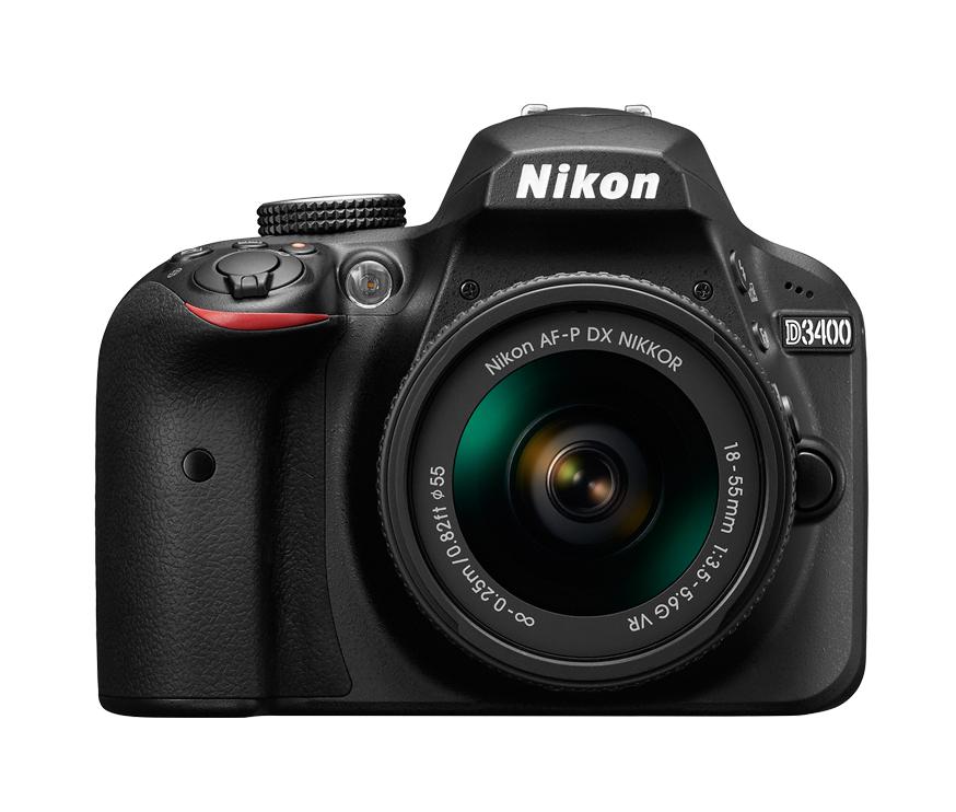 Nikon D3400 Kit schwarz + AF-P 18-55 VR