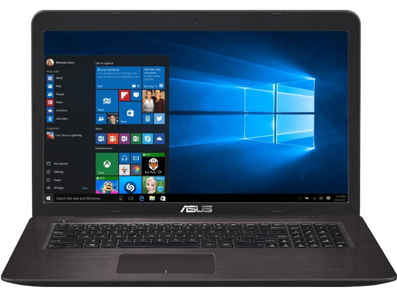 Asus F756UQ-T4147T 17,3 Zoll mattes FHD Notebook (Intel Core i7-7500U, 16GB RAM, 256GB SSD, 1TB HDD, NVIDIA GeForce 940MX) dunkelbraun für 899€ [Mediamarkt.at]
