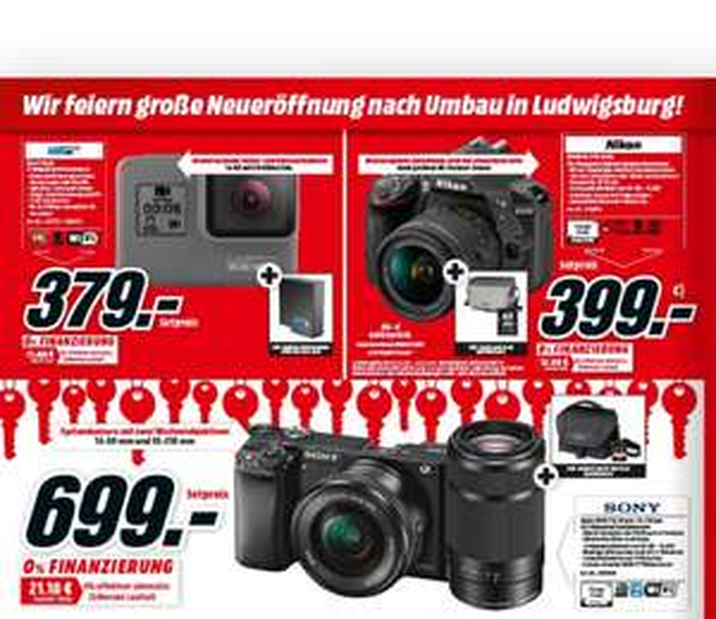 Sony Alpha A6000 Doppelzoom inkl. Tasche und Speicherkarte zum Hammer-Preis