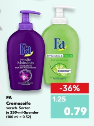 [Kaufland] ab 16.11.2017  Fa Flüssigseite für 0,79€