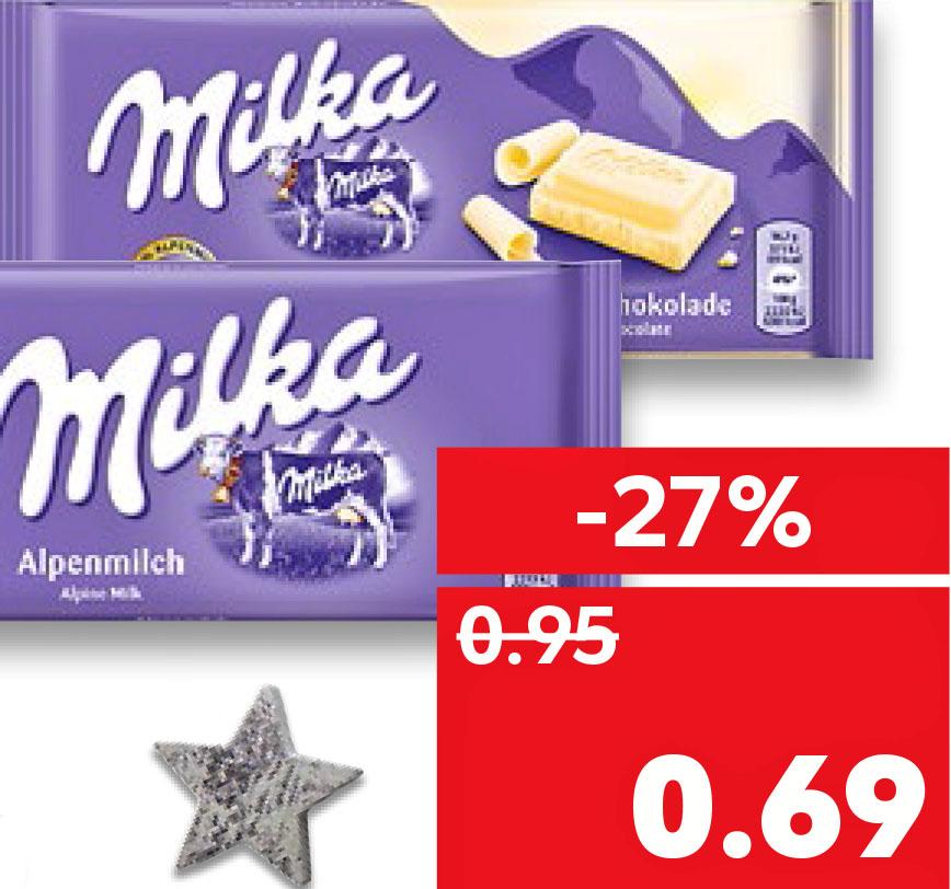 Milka Schokolade, verschiedene Sorten, für 69 Cent @Kaufland ab 16.11