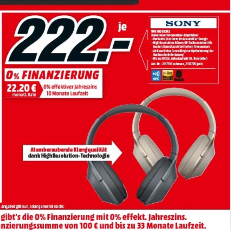 [Lokal Ludwigsburg] Sony WH-1000XM2