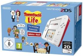 Nintendo 2DS Konsole rot/weiß + Tomodachi Life vorinstalliert inkl. Vsk für 59,49 € + 3,5 % Shoop > [Rakuten.de]