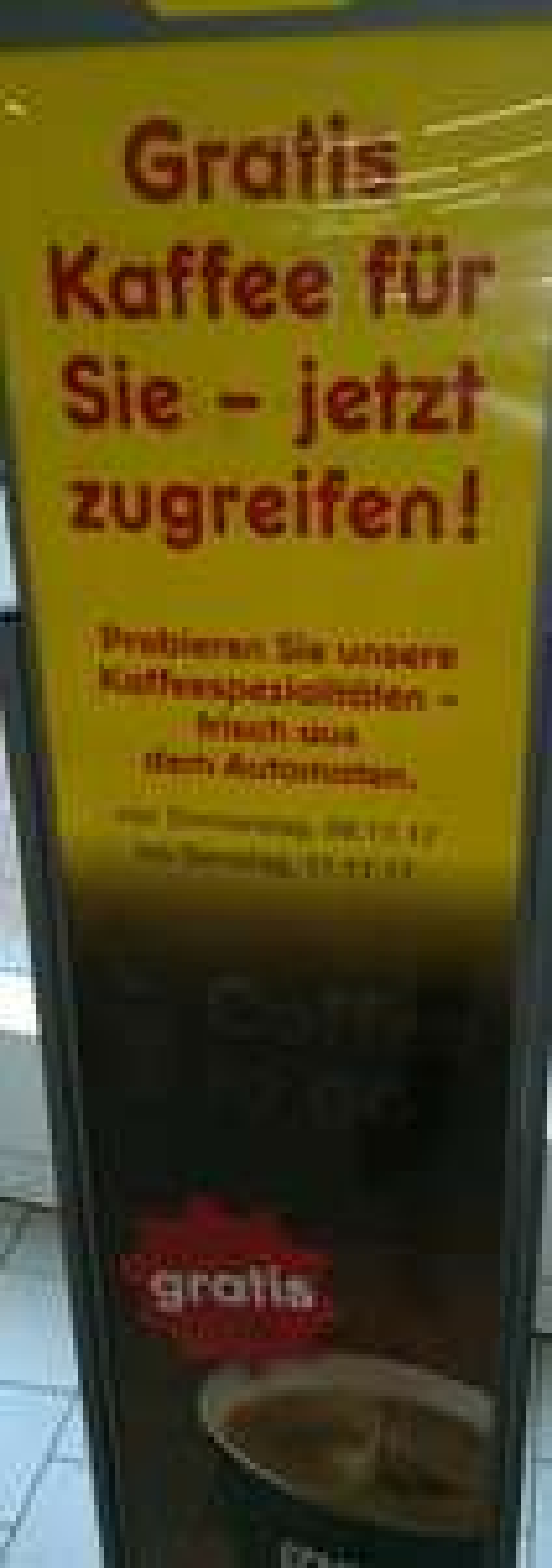 (Lokal Hamburg Altona) Gratis Kaffeespezialitäten z.Bsp. Latte Macchiato bei NETTO Große Bergstr.