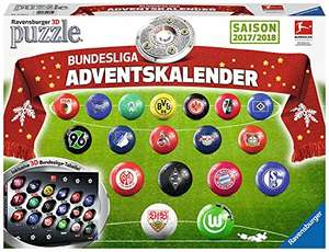 [Amazon]  Ravensburger 11695 - Adventskalender Bundesliga 3D Puzzle