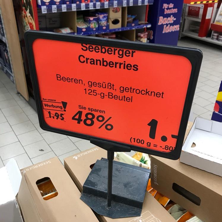 Bundesweit: Kaufland Seeberger Cranberries und Smarties je 1 Euro
