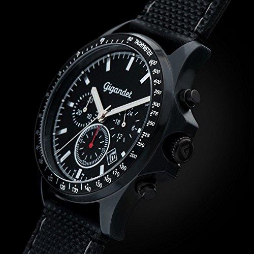 Gigandet Blitzdeal: Herren Armbanduhr Chronograph Schwarz G3-009 für 64,90 Euro