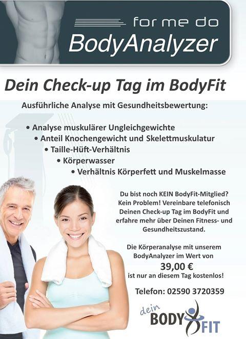 [Lokal / Dülmen (Münsterland) / Fitness] Health Check kostenlos, statt 39 EUR, auch für Nicht-Mitglieder