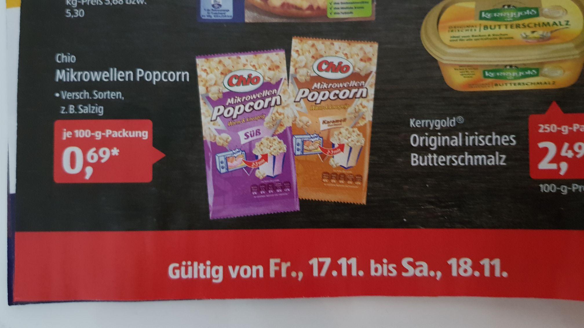 Chio Mikrowellen Popcorn 0,69€