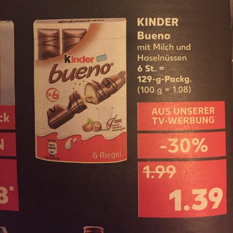 Kinder Bueno 1,39€ bei Kaufland ab 13.11.