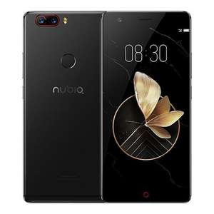 ZTE Nubia Z17 5,5 Zoll 4G LTE Smartphone 6 GB 64 GB Dual-Rück Cam 23.0MP + 12.0mp Snapdragon 835 Octa-Core Android 7.1 NFC Fast Charge QC4 + Bass Sound - Schwarz