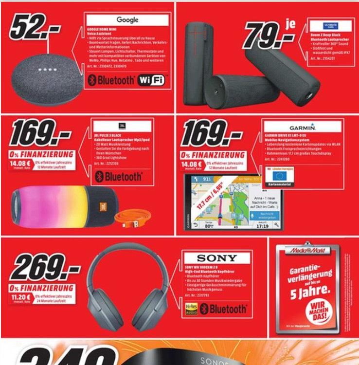 Sony WH 1000XM2, JBL Pulse 3 MediaMarkt Bonn und Bornheim 4. Geburtstag