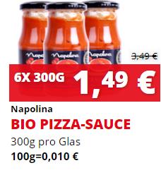 [Magowsky] 6x 300g Bio Pizza-Saucen-Glaser für 0,25€/Glas