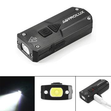 [Banggood] Astrolux K1 Edelstahl 250 Lumen LED Mini Schlüsselanhänger, 365nm UV + Red, Taschenlampe wiederaufladbar