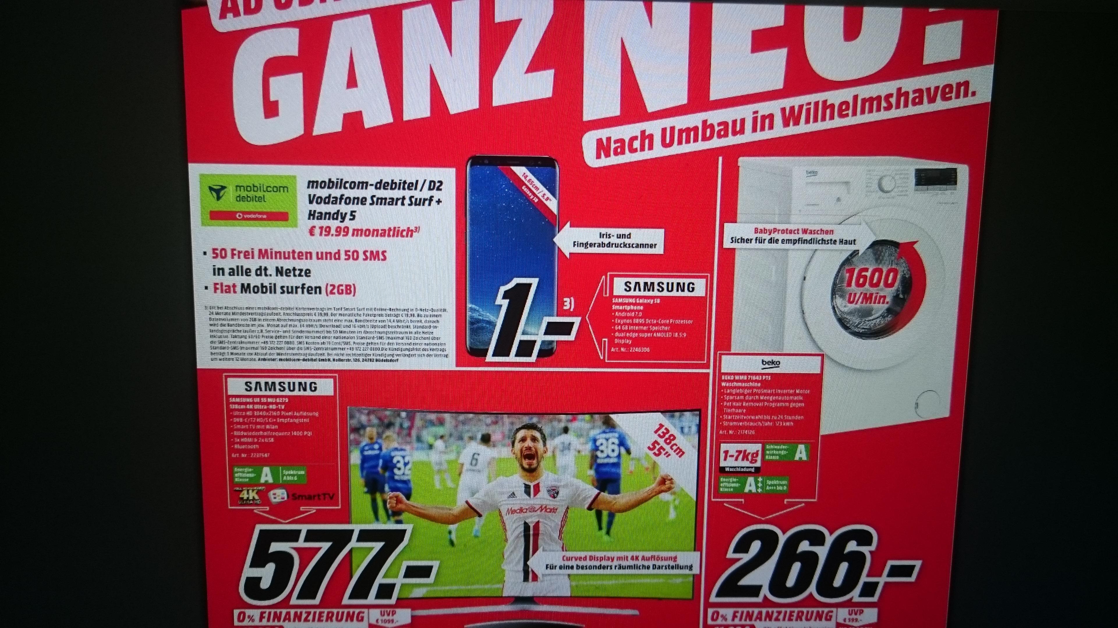 REGIONAL,Media Markt Wilhelmshaven Bestpreis! Samsung UE 55 MU 6279 Nur 577,- Euro