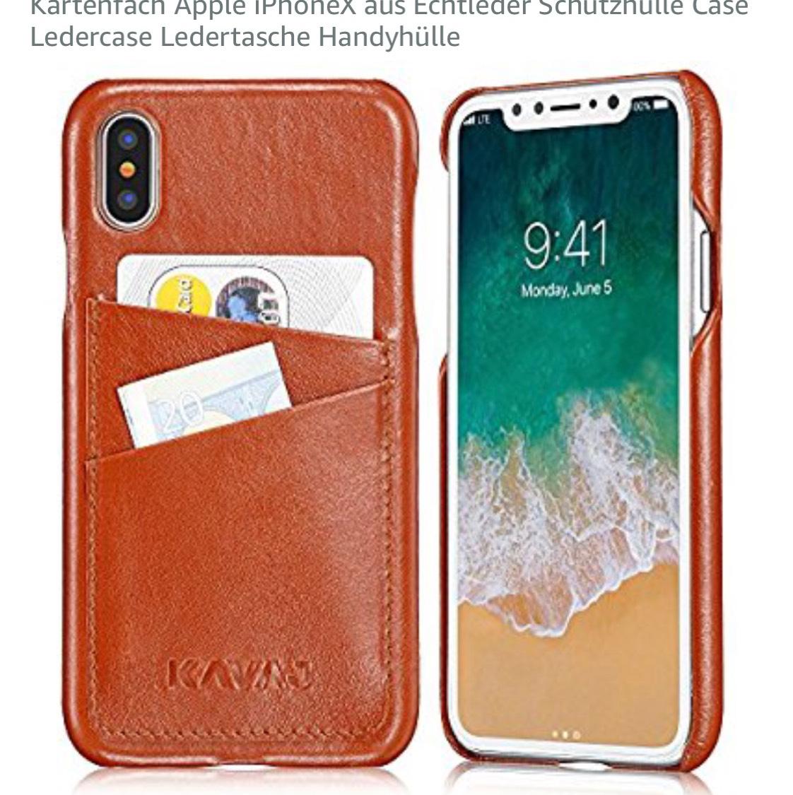 Kavaj Leder Case für das iPhone X bei AMAZON