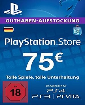 PSN Guthaben 75 Euro für 60,62 €