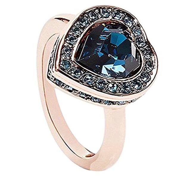 Guess Damen-Ring Herz Messing - Größe 56 - Prime