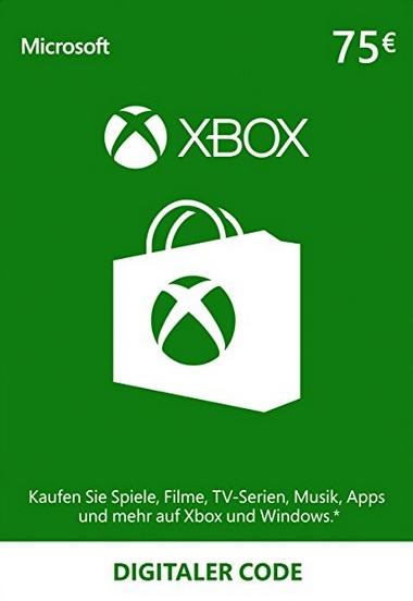 XBOX Live Geschenkkarte 75 Euro