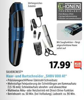 LIDL Prospekt, Vakuum Barthaarschneider, vergleichbar Philips Series 7000